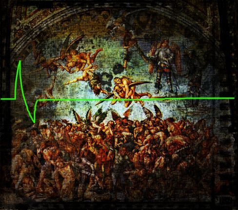 "Original Painting- ""Hell"" by Luca Signorelli 1499-1502"