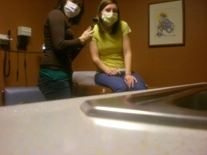 One time, I took my friend Sarah to the doctor and pretended to be a doctor. Everyone should be glad I did not pursue this career. However, Sarah went on to be a great real doctor. You should go to her:)