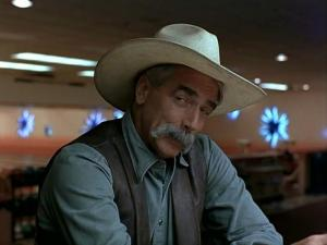 This picture of Sam Elliot is the closest thing I could find to give you an idea of what Cowboy Man looked like. This is pretty close, but Cowboy Man was more built and weathered... and cooler.
